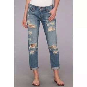 Lucky Brand Sienna Cigarette Destroyed Jeans 24